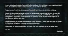 코로나19로 인한 플레이스테이션 기대작, 더 라스트 오브 어스2 발매 무기한 연기