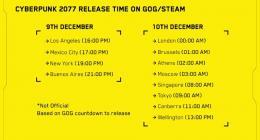 사이버펑크 2077 - PC버전 기준 출시일 시간 발표